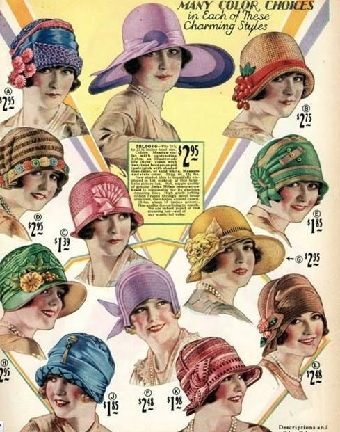 Vintage hats from the 20s