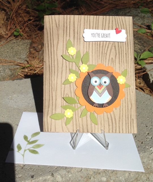 Owl Builder Punch Card, 118074, $16.95, updated!