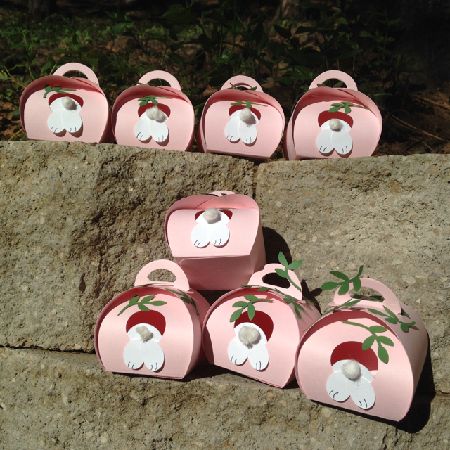 8 Pink Pirouette Bunny Holes