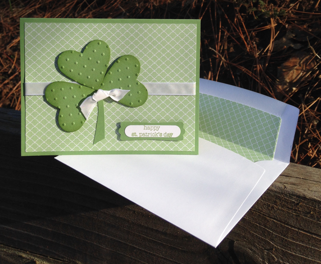 ST. PATRICK'S DAY CARD - HEARTS COLLECTION FRAMELITS