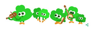 Google's St. Patrick's Day doodle for 2015