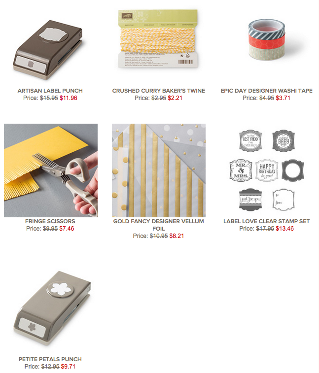 Stampin' Up!'s WEEKLY DEALS, 24-30 MARCH 2015