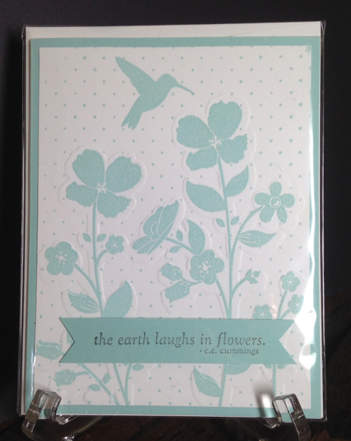 Wildflower Meadow Stamp (129165) and Text Impr Embossing Folder (129376)