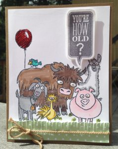 You're how old? From the Herd stamp set, Stampin' Up!