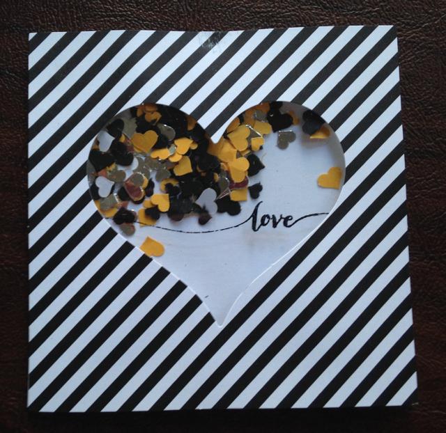 Love Shaker Card piece