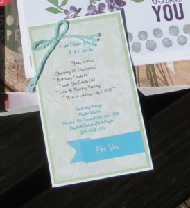 Gift/Information Tag for Donation Basket