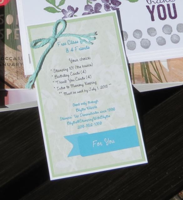 Gift/Information Tag for Donation Basket