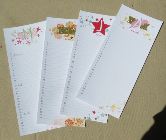 May June July August Perpetual Calendar Pages