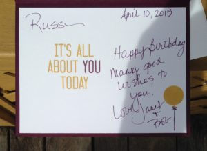 It's all about YOU today.....masculine birthday card