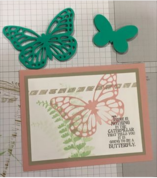 Kelly's project card using the Butterfly Basics (138813) stamp set