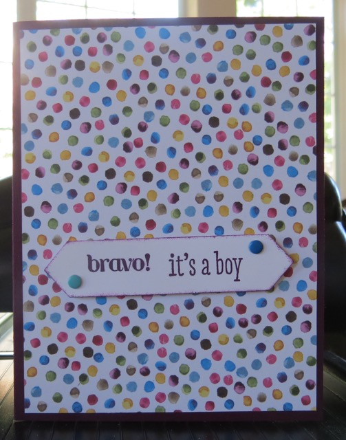 Painted Blooms Designer Series Paper IT'S A BOY card