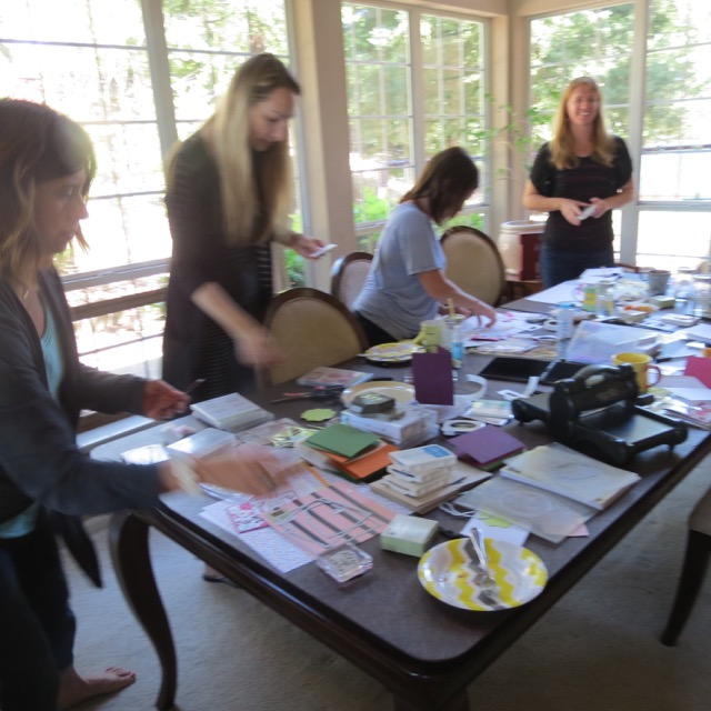 View of the 'work table' as a stamp class gets going!