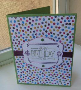 Painted Blooms Designer Series Paper HAPPY BIRTHDAY card