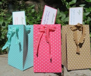 """Gift Bag Punch Board created bags from a 6"""" x 10"""" piece of Designer Series Paper"""