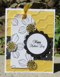 Mother's Day card with honeycomb background