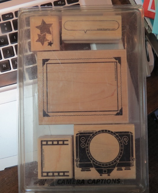 Camera Captions, 1998 well retired Stampin' Up! stamp set