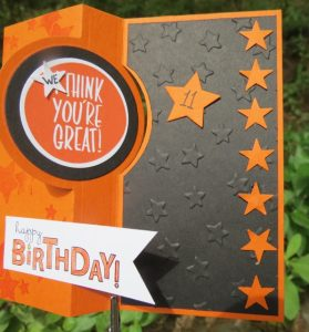 Austin's 11th birthday card using the I Think You're Great stamp set, 138712