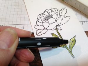 Lay your Blender Pen on its side to apply color
