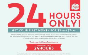 $5 Paper Pumpkin - 24 hrs only!