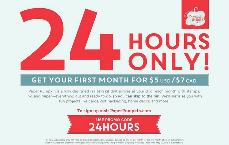 $5 Paper Pumpkin - 24 hrs only!
