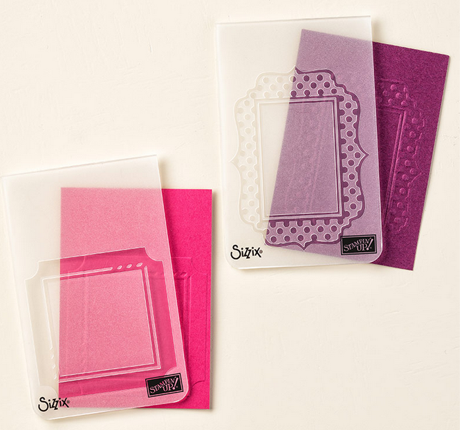 Fun Frames Embossing Folders also on sale for 25% off!  133727