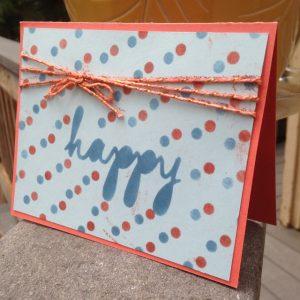 Happy Patterns Decorative Masks: HAPPY Polka Dots (138313)