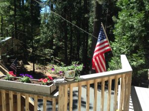 Flag Day 2015. View from the loft deck, looking south east.