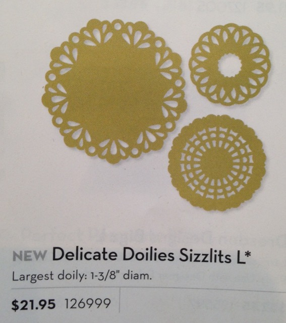 Delicate Doilies Sizzlits L, originally $21.95