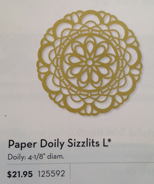 Paper Doily Sizzlits L, originally $21.95