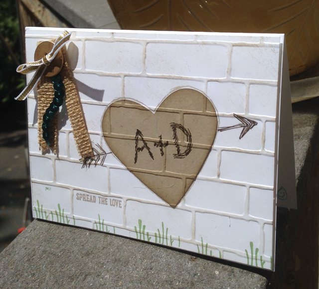 Graffiti Anniversary Card using Brick Wall TIEF (138288)