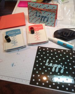 Supplies ready to create new card