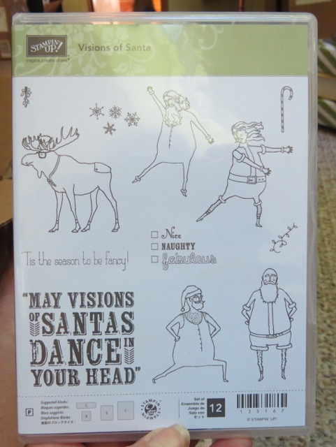 Visions of Santa, set of 12 stamps, retired 2015