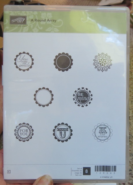 A Round Array, set of 8 stamps, retired 2015