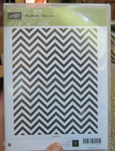 Positively Chevron Background, Wood Mount, set of 1 stamps, retired 2015