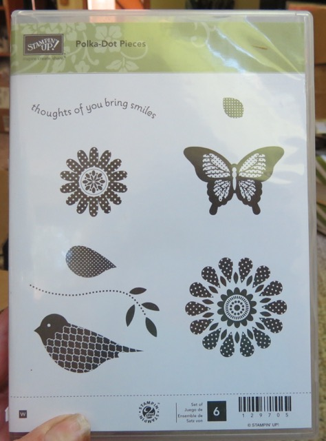 Polka-Dot Pieces, set of 6 stamps, retired 2015