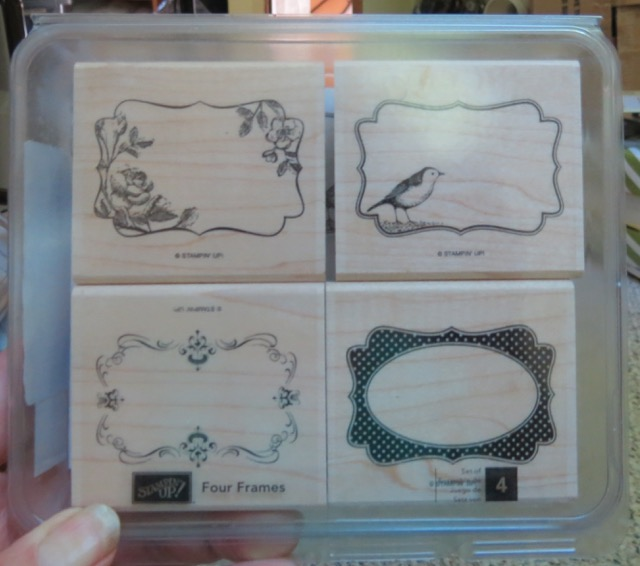 Four Frames, set of 4 stamps, retired 2015