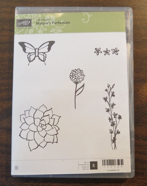 Nature's Perfection, Sale-a-Bration 2015, clear mount; SALE PRICE: $10.00