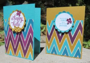 Side by side view of Bohemian Dseigner Series Paper (138446)cards
