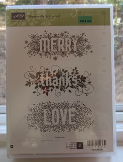 Stampin' Up! Seasonally Scattered, wood mount