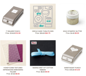 Stampin' Up's Weekly Deals, June 16-22, 2015
