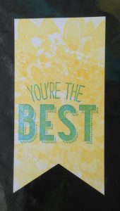You're the Best image needing a juicier stamp pad