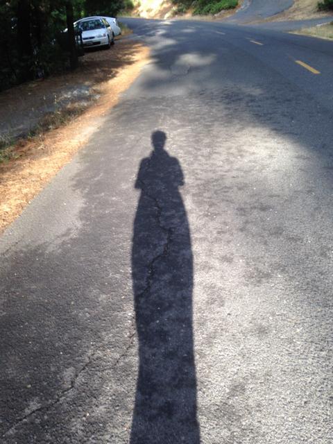 Early morning walking shadow in MI Wuk Village