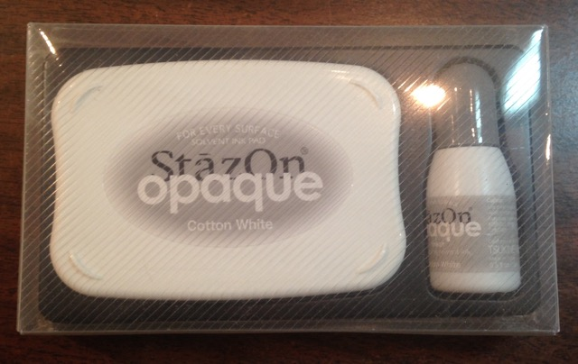 StazOn opaque Cotton White Pad, ink refill