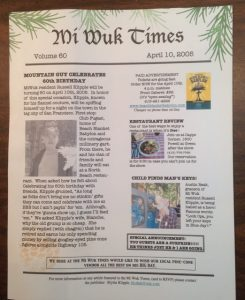 Mi Wuk Times: Russ's 60th birthday invitation - 10 year ago