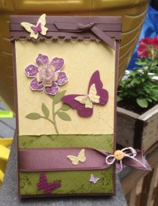 Butterfly box / 4 cards