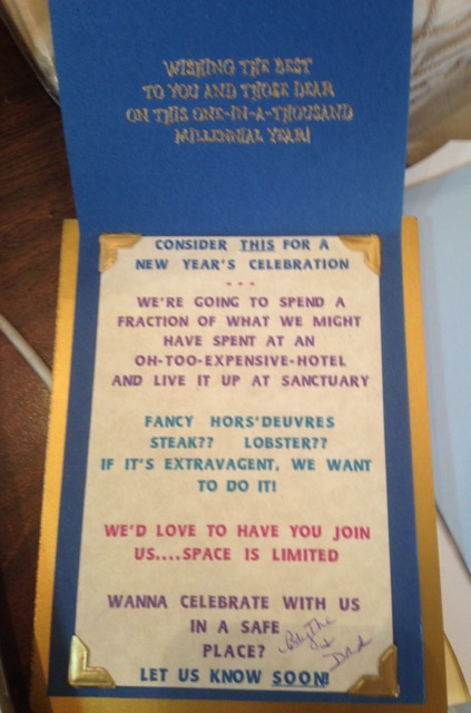 Inside of Y2K party invitation