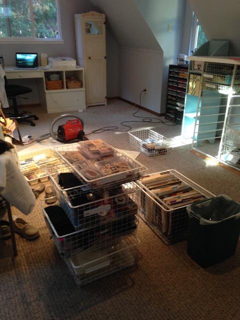 Stampin' studio on Thursday morning