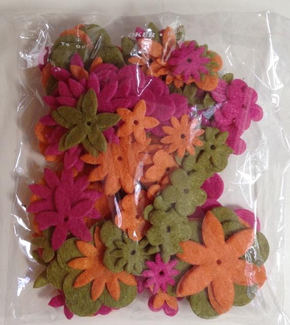Fusion Flowers- lots of felt pieces!