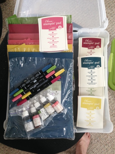 2012-2014 IN COLOR CARD STOCK, CLASSIC INK PADS, MARKERS and INK REFILLS