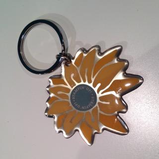 Stampin' Up! Sunshine flower keyring